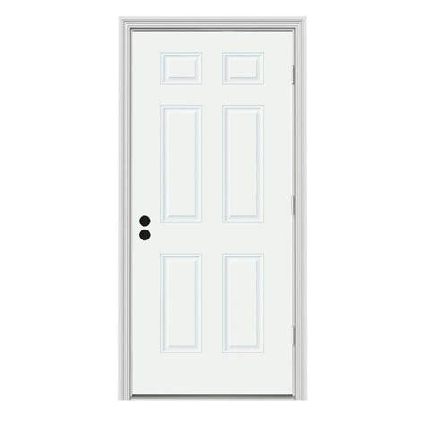 Jeld Wen 6 Panel Painted Steel Entry Door With Primed 6 Panel Steel Exterior Door