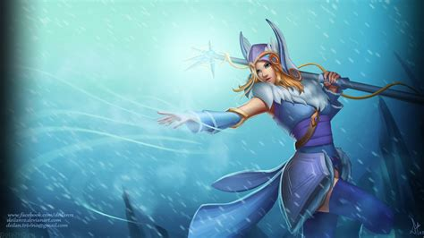 dota 2 rylai wallpaper crystal maiden hd wallpaper dota 2 wallpapers