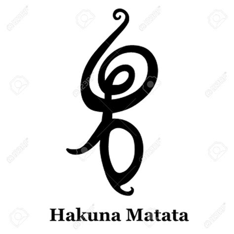 no worries tattoo hakuna matata symbol quot no worries for the rest of your