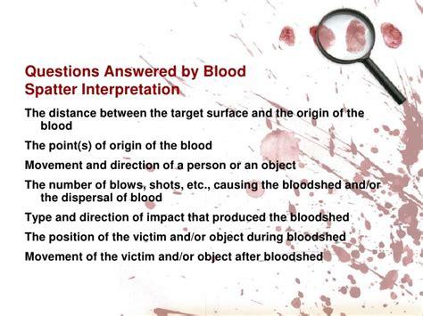 bloodstain pattern analysis lab quiz blood spatter analysis ppt