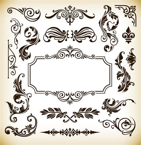vintage frame pattern free vintage pattern frame decoration vector graphics free