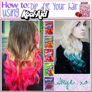 how to color hair with kool aid how to dip dye your hair using kool aid polyvore