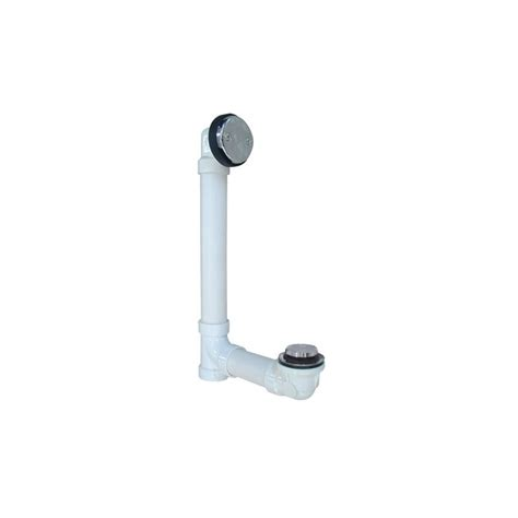 bathtub drain fittings proflo pfwo300 chrome 1 1 2 quot pvc tub drain trim fitting faucetdirect com