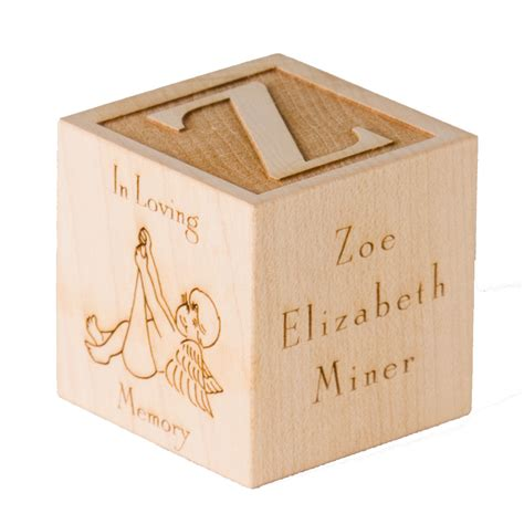 personalized infant memorial gift engraved custom by blocksetc