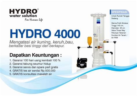 Filter Air Penjernih Air Penyaringan Air 5 filter air hydro by solehhydro
