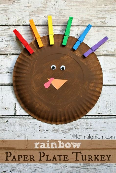 thanksgiving paper plate turkey craft rainbow paper plate turkey craft pictures photos and