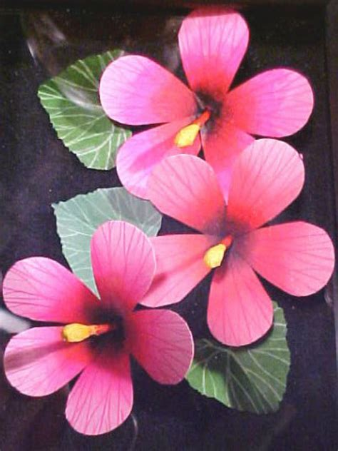 hibiscus paper flower tutorial create three dimensional cards with paper hibiscus flowers