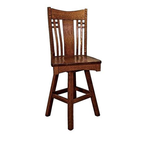 larson mission swivel bar stool amish crafted furniture