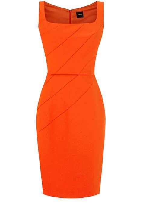 Dress Wanita Orange oasis all dresses mid orange petal shift dress