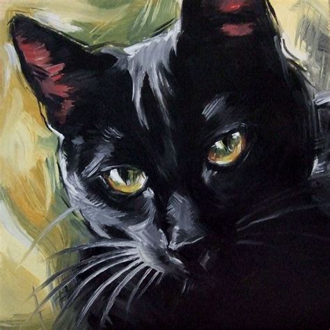 paint a cat 1000 ideas about black cat painting on cat