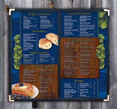 eileens country kitchen eileen s country kitchen menu on behance