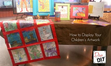 displaying kids artwork how to display kids artwork 12 diy mother s day gifts