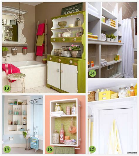 creative storage ideas for small bathrooms 28 creative bathroom storage ideas