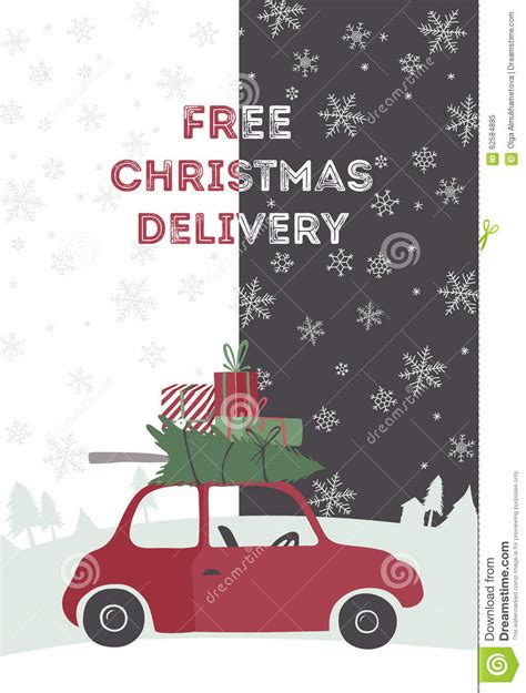 christmas delivery vector illustration stock vector