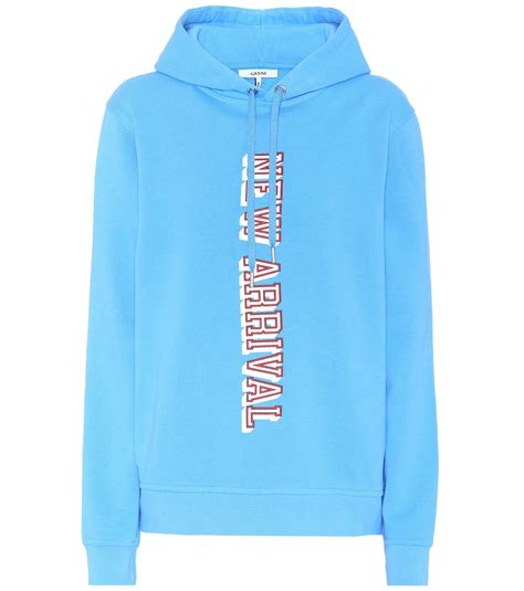 Hoodie Exclusive Hitam 1 lyst ganni exclusive to mytheresa lott isoli cotton hoodie in blue