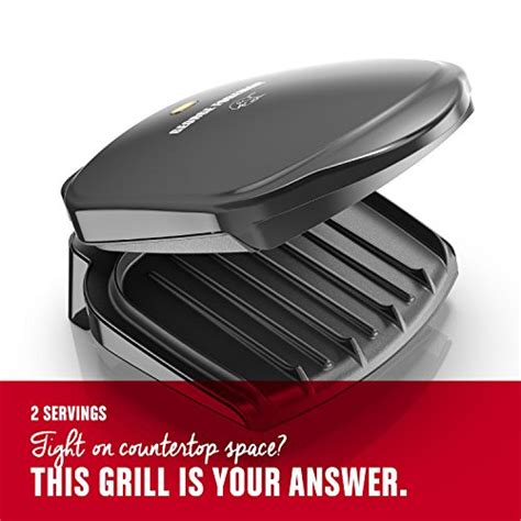george foreman gr10b grill ch electrics kitchen george foreman 2 serving classic plate electric indoor