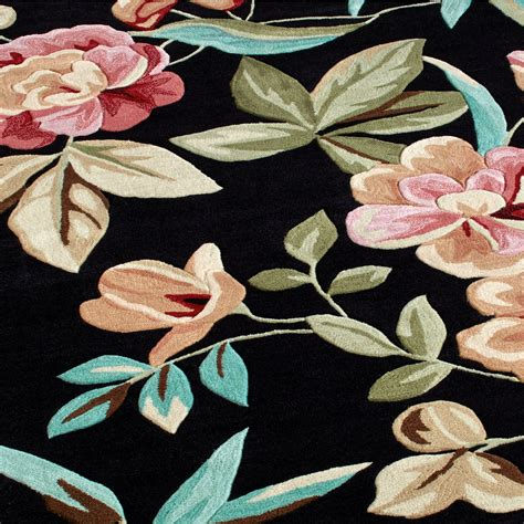 flor rug flor bloom black tropical area rugs