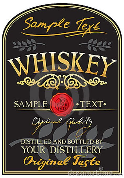 liquor label template whiskey label stock photo image 23790050