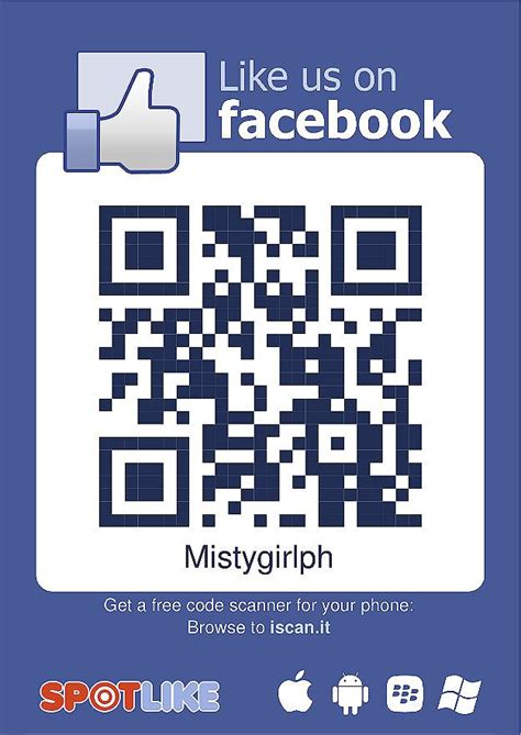 fb qr code create your own qr code like button for facebook fans to scan