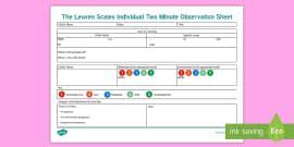 leuven scale   involvement information eyfs practitioner ferre