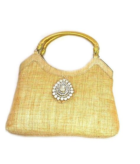 Handmade Jute Bags - buy handmade yellow jute bag at best prices in india