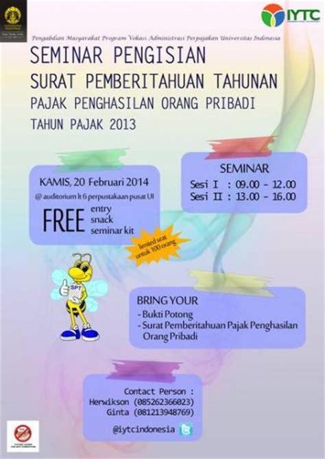 seminar pengisian surat pemberitahuan tahunan pajak