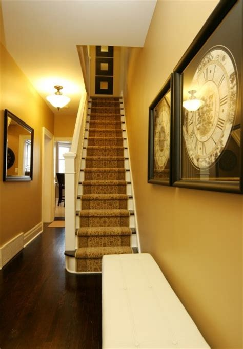 Narrow Stairs Design Narrow Steep Staircase Foyer Entryway