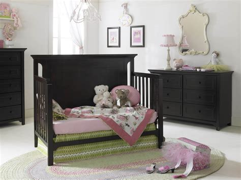 Convertible Nursery Furniture Sets Affordable Baby Nursery Furniture Set Present Convertible Crib And Black Wood Dresser Of