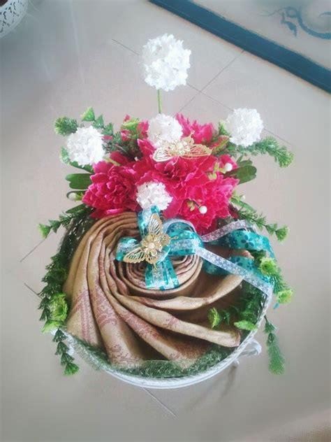 Kain Batik Pastel 2 kain songket project hantaran perkahwinan