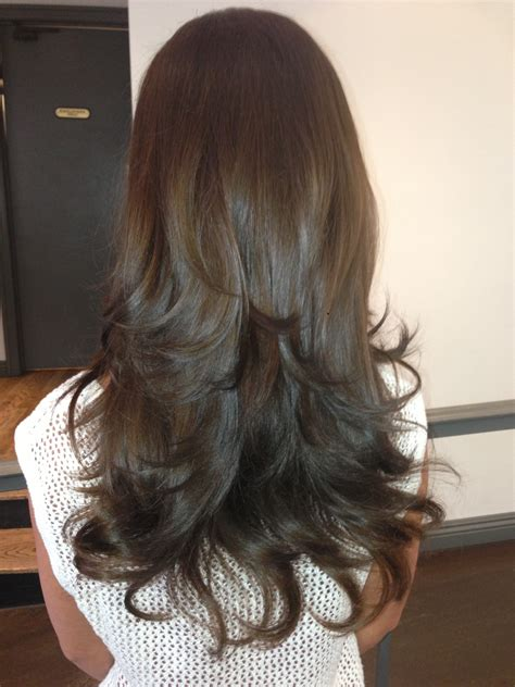 hair extensions that are already layered before and after long layered hair extensions beauty