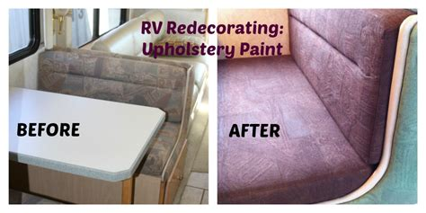 motorhome upholstery redecorating the rv upholstery paint for dinette cushions