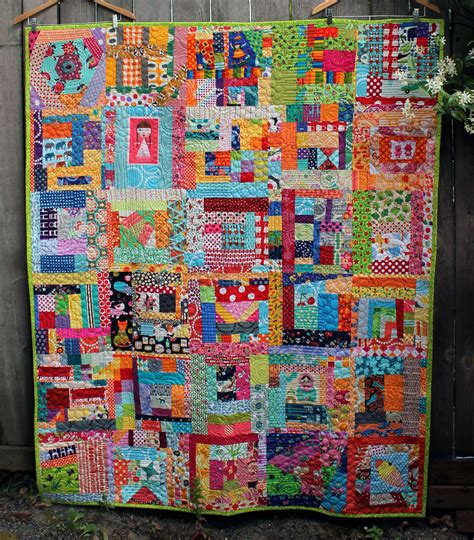 Modern Quilts And Coverlets Scrap Quilts Wombat Quilts