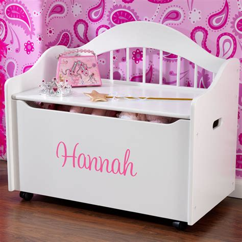 personalized toy chest bench personalized limited edition toy box white modern