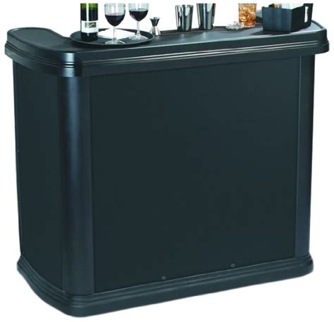 portable high top bar carlisle 755003 maximizer portable high top bar black