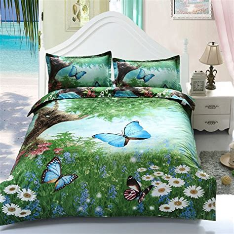 Sleep Buddy Bed Cover Garden Butterfly Cotton Sateen King Size floral bedding sets sale ease bedding with style