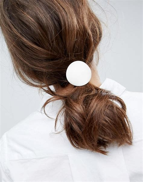 asos asos brushed disc hair tie