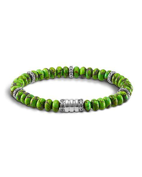 hardy mohave bedeg mens beaded bracelet in green for