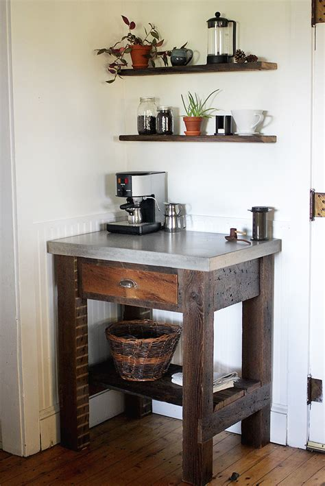 Rustic Kitchen Canisters diy concrete top coffee bar 187 the merrythought