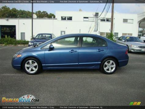 honda civic 2008 ex l 2008 honda civic ex l sedan atomic blue metallic gray
