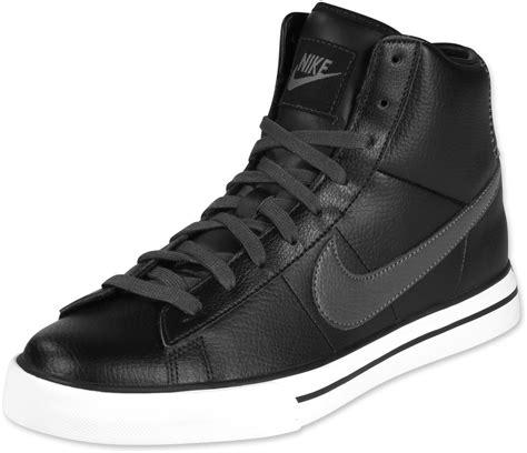 nike sweet classic high shoes black grey white