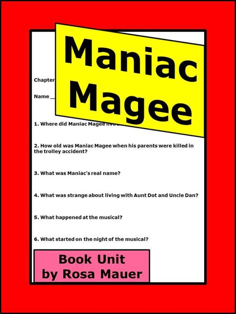 maniac magee book report maniac magee reading comprehension questions