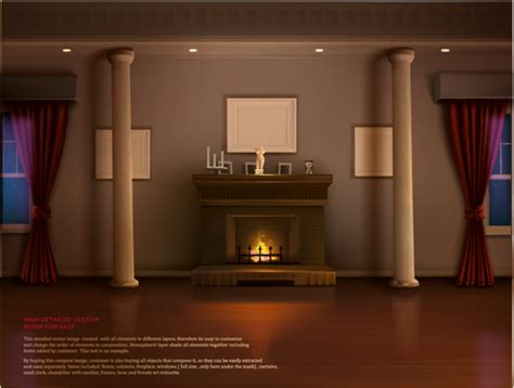 house interior corner background vectors set 21 vector
