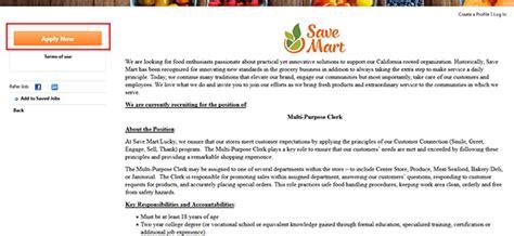 sears application login ideas save mart