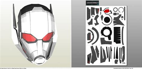 wars galaxy armor templates with updated captain america civil war ant helmet pepakura eu