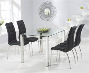 Dining Room Chairs Calgary Buy The 120cm Glass Dining Table With Calgary Chairs At Oak Furniture Superstore