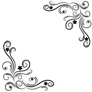 Flourish Frame Outline by Corner Flourishes Cliparts Co