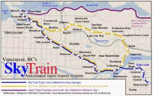 canada line skytrain map vancouver skytrain map image search results