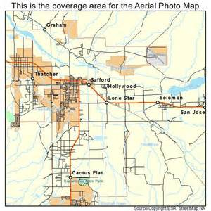 aerial photography map of safford az arizona