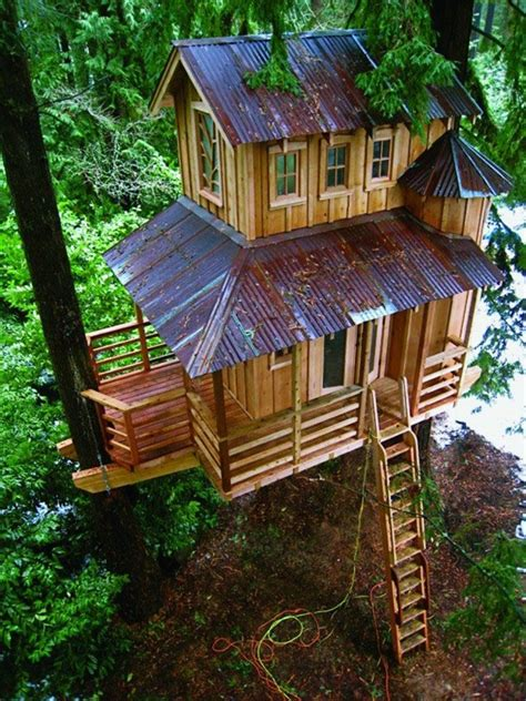 35 Beautiful Tree House Ideas Page 2 Of 2 Bored Art Livable Tree House Plans