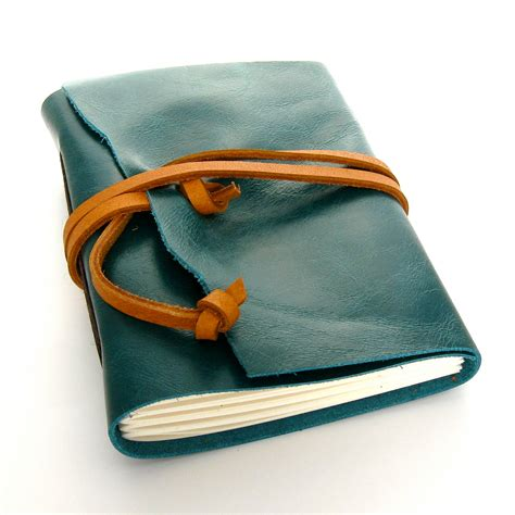 Handmade Leather Journals For - handmade leather journal and sketchbook in teal and caramel